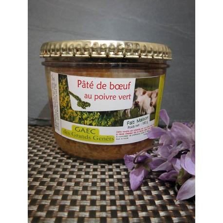 Pâté pur boeuf au poivre vert bocal de 180 gr